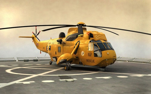 helicopter made in 3ds max and rendered in vray by Cristea Andrei