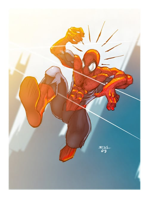 Spider sketch by =ErikVonLehmann