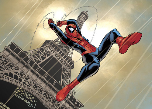 spidey in paris by deemonproductions