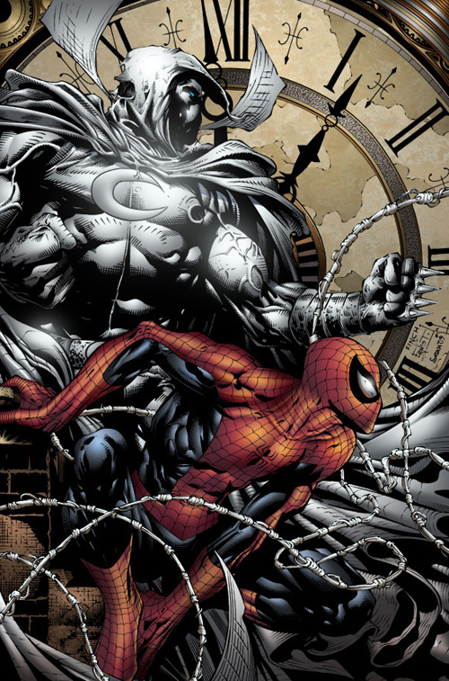 Moonknight & Spiderman, Sean Ellery (2D)