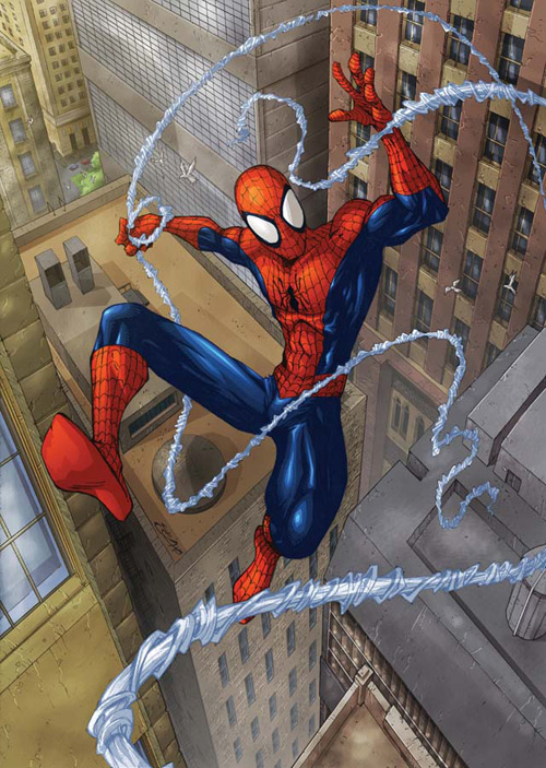 spidey swingin by deemonproductions
