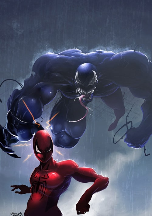 another venom and spidey love romance, sebastien brunet (2D)