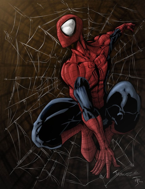 Spider Man colored by ~Niggaz4life
