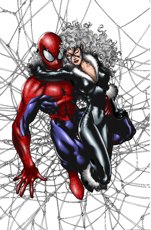 Spiderman And Blackcat In Love
