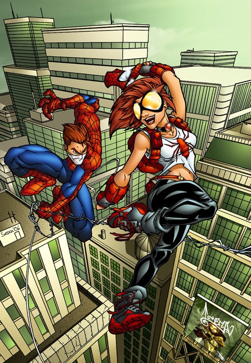 Arana and Spidey, Sean Ellery (2D)