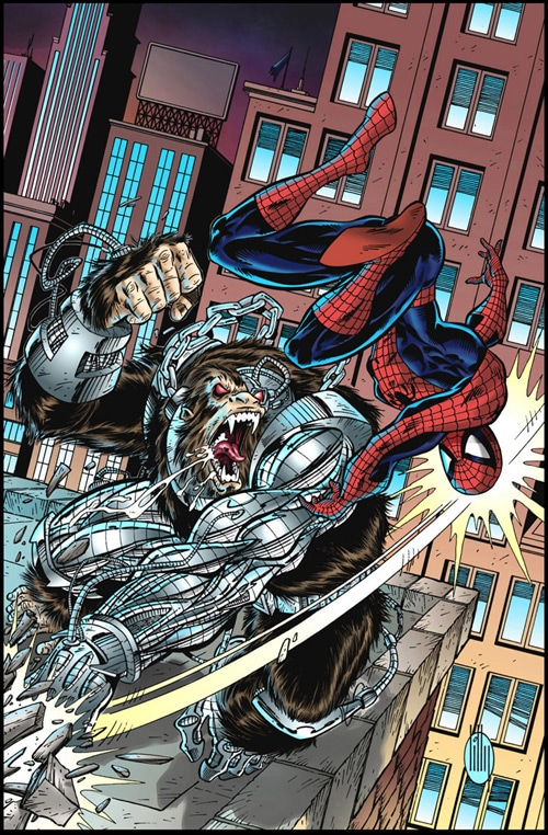Spider-Man Vs. Cy-Gor Colored by ~residentlilly