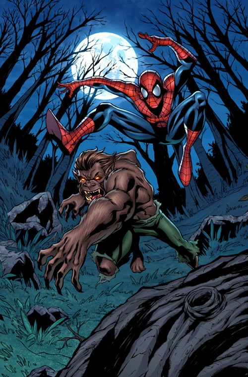 Spider-Man vs. Werewolf by ~Miketron2000