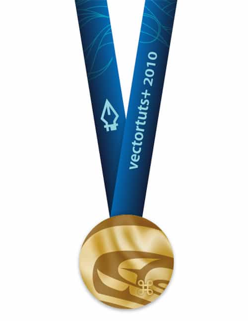 How To Make an Olympic Gold Medal In Adobe Illustrator CS4