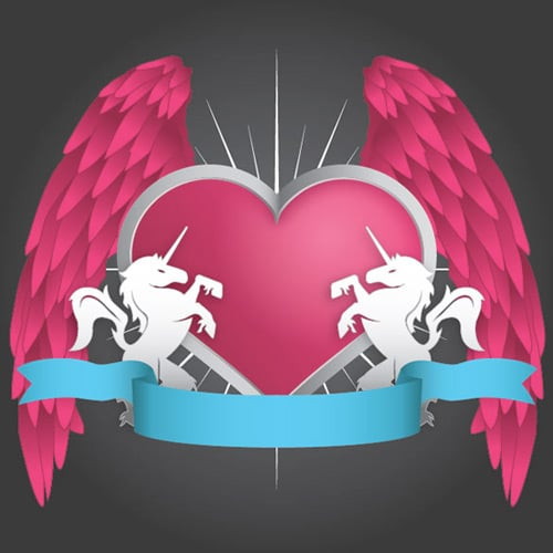 How To Design Your Own Valentine's Day Heraldry Illustration