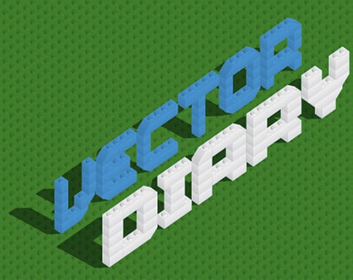 Lego bricks typeface tutorial
