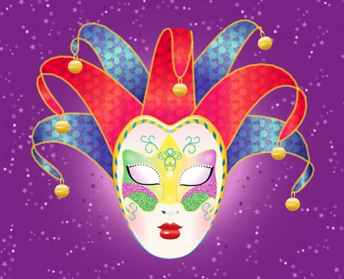 Create a Colorful, Vector Carnival Mask