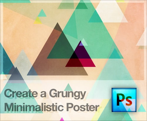 Design a Grungy Minimalistic Poster in Photoshop