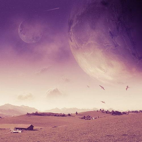 Create a Realistic Space Landscape Photo Manipulation