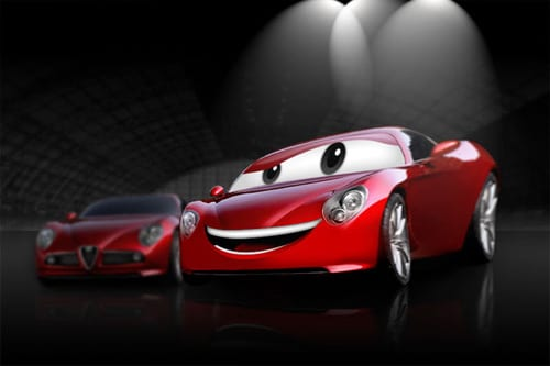 Create a Cartoon Car Similar to Cars Movie