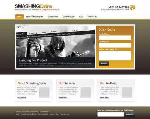 Create a Clean and Professional Web Design in Photoshop
