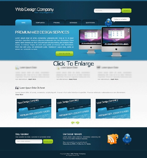 Web Design Layout 14
