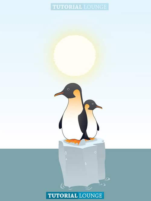 Create a Penguins Illustration Tutorial for Global Warming Cause