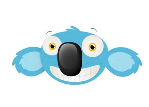 How to Design a Cheeky Koala Mascot Head