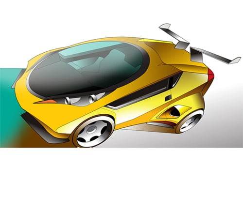 Draw a concept car in Illustrator