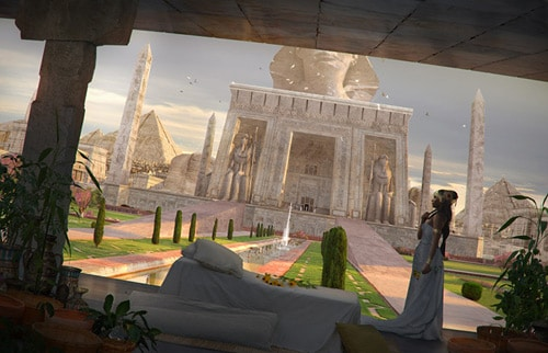 Matte Painting - Cleopatra Queen of Egypt
