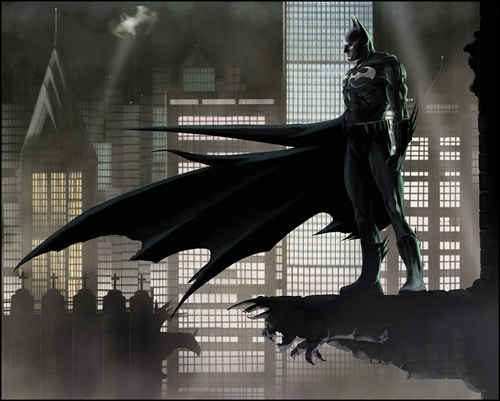 Batman : Gotham City by wildlifehoodoo