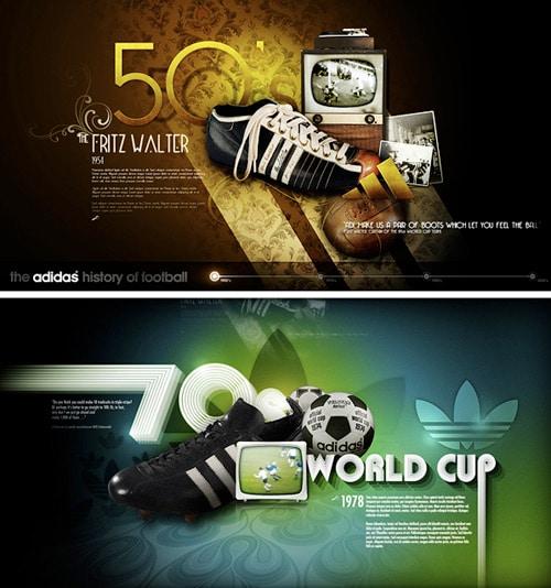 Adidas Concept - Football timeline