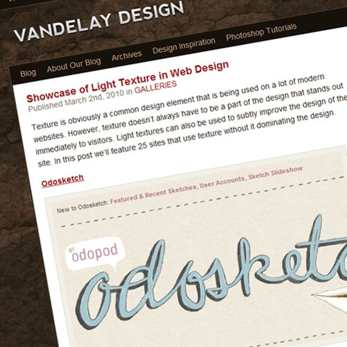 Showcase of Light Texture in Web Design