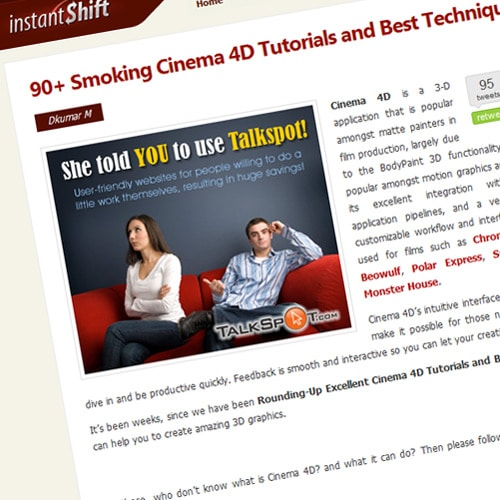 90+ Smoking Cinema 4D Tutorials and Best Techniques