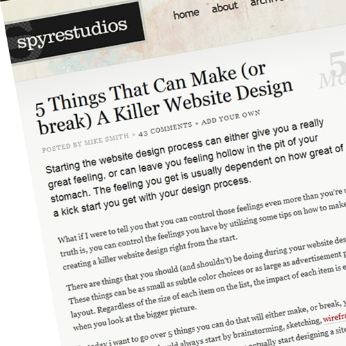 5 Things That Can Make (or break) A Killer Website Design