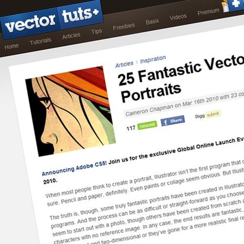 25 Fantastic Vector Portraits
