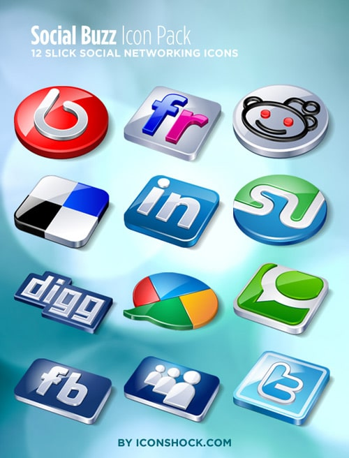 Social Buzz Icon Pack   Tutorial9