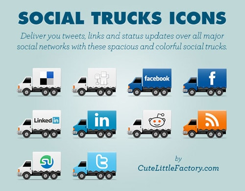 Social Trucks Icons | Cute Little Factory