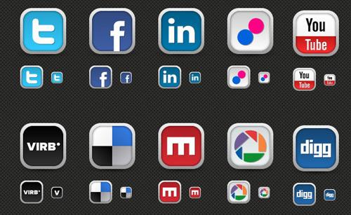 30+ New Social Media Icons   MediaLoot