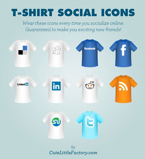 T-Shirt Social Icons | Cute Little Factory