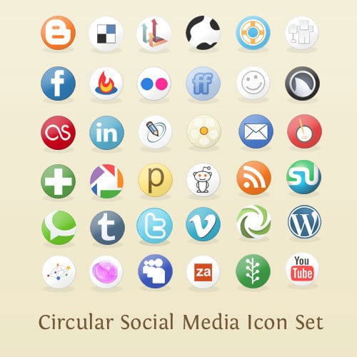 Circular Social Media Icons Repack » Arbenting Freebies - The Product of Being Creative