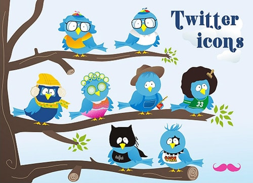 Free twitter icon set | webtoolkit4.me