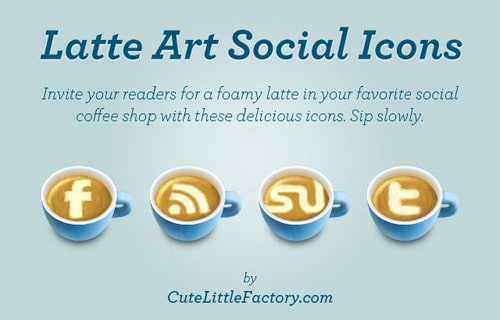 Latte Art Social Icons | Cute Little Factory