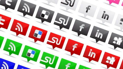 Free Tooltip-Style Social Media Icon Set