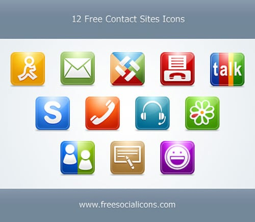 12 Free Contact Icons