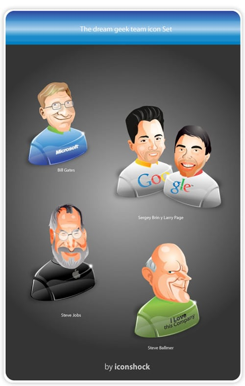 Free, Quirky Icon Set: The Dream Geek Team