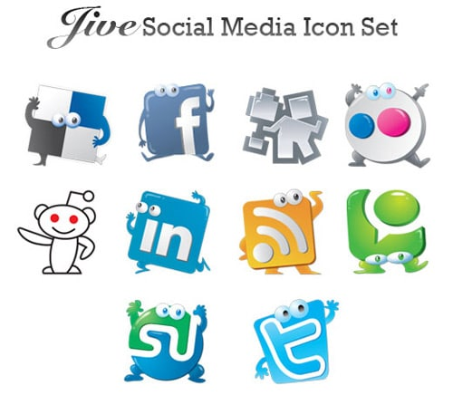 AddToDesign - Jive: 10 Social Media Icons