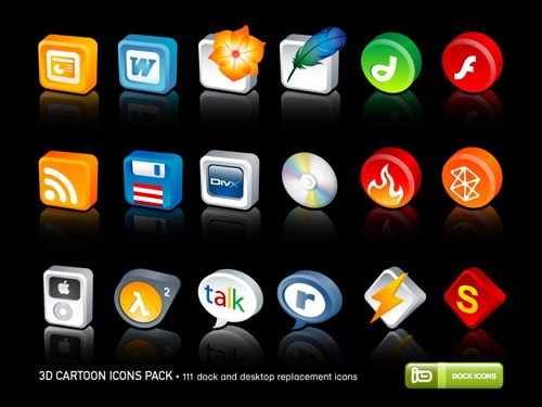 3D Cartoon Icons Pack by deleket on deviantART