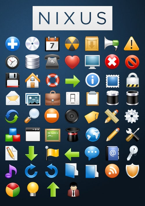 NIXUS Icon Pack: 60 Beautiful Premium Icons (Free) | Tutorial9