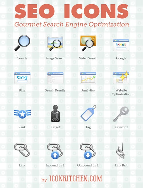 Free SEO Icons Set (16 Icons, Private Use Only) - Noupe