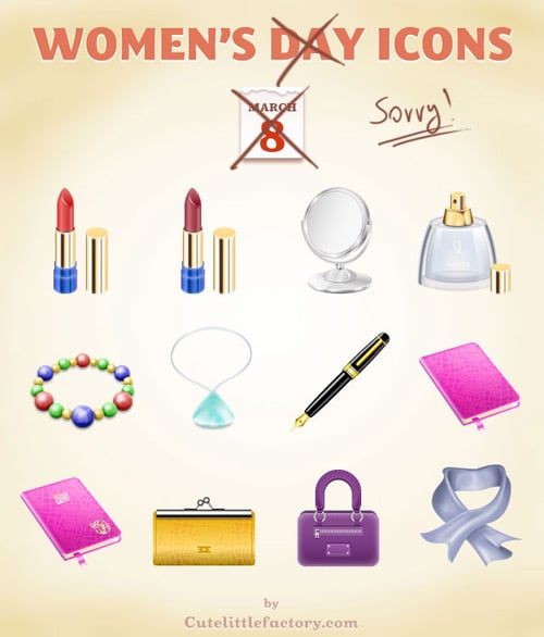 Women's Day Icons | Cute Little Factory