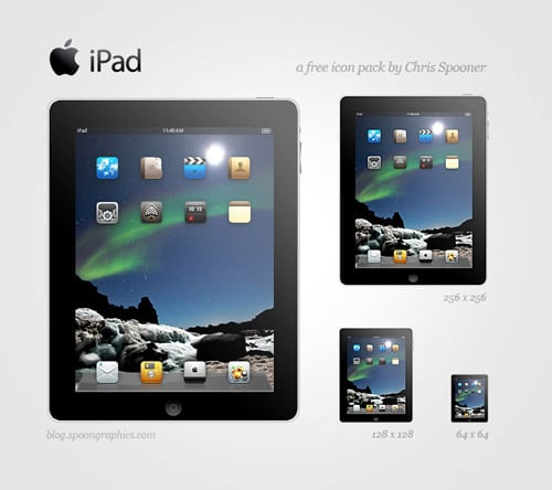 Free Apple iPad Icon Set for Your Website Designs