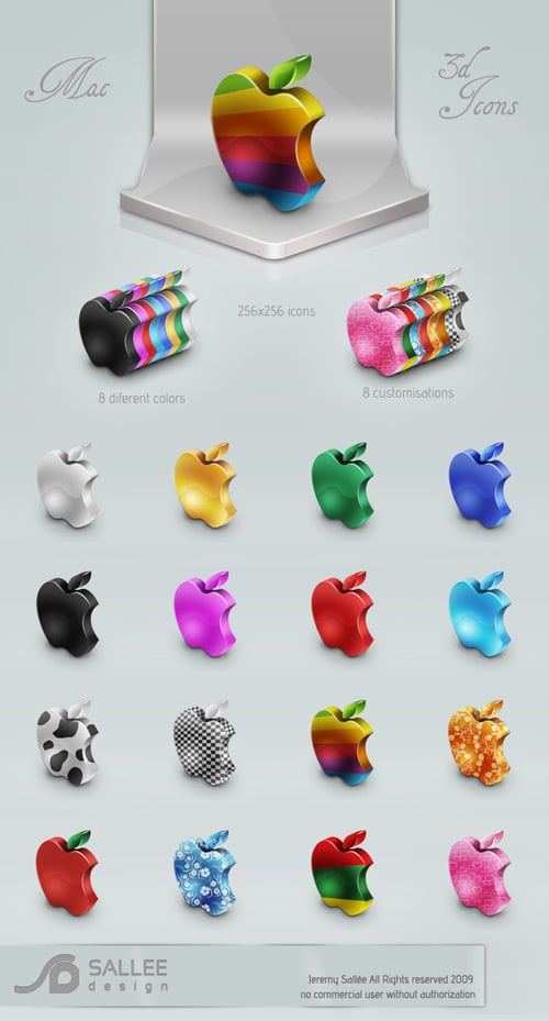 mac 3D icon set by LeMex on deviantART