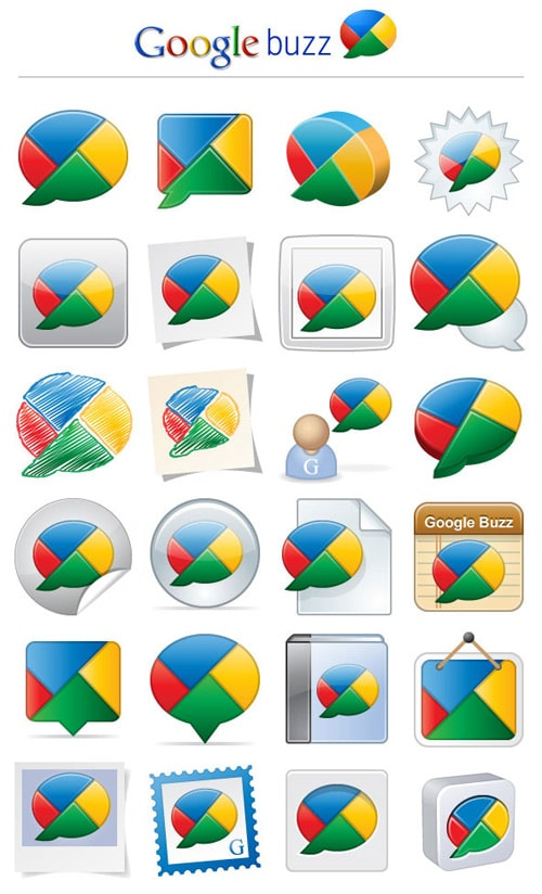 24 Free Exclusive Google Buzz Icons | Webdesigner Depot