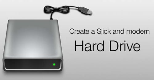 Create a Slick External Hard Disk in Photoshop | Richworks