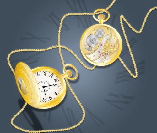 Draw a Glowing, Vector Pocket Watch - Front and Back | Vectortuts+